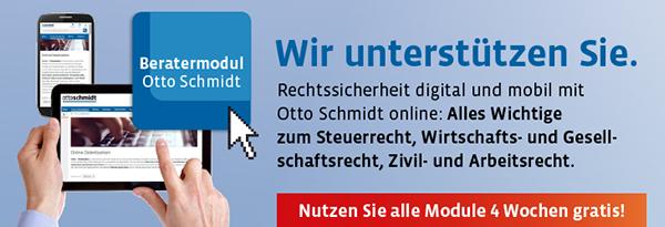 Datenbank Otto Schmidt online Zivilrecht. Jetzt 4 Wochen gratis nutzen!