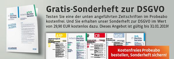 Gratis-Sonderheft und Online-Dossier zur DSGVO. Jetzt im kostenlosen Probeabo!.