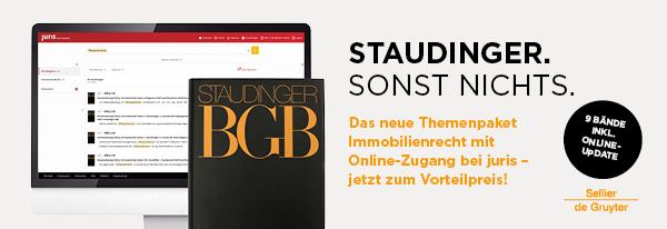 Anzeige: Staudinger, Themenpaket Immobilienrecht.
