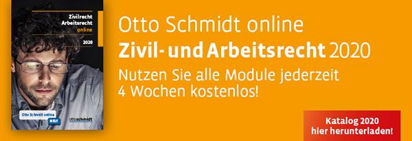 Katalog Otto Schmidt online Zivilrecht. Hier kostenlos herunterladen!